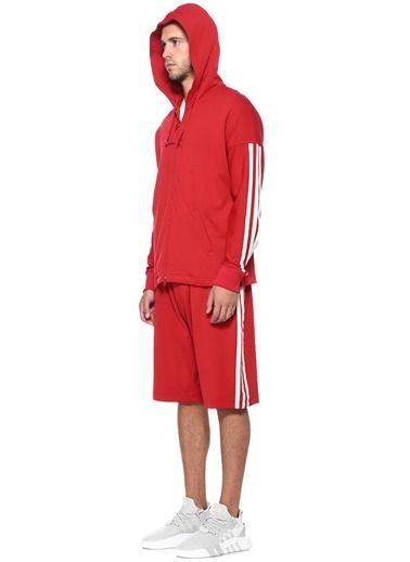 Y-3 Kapüşonlu Fermuarlı Sweatshirt Kırmızı